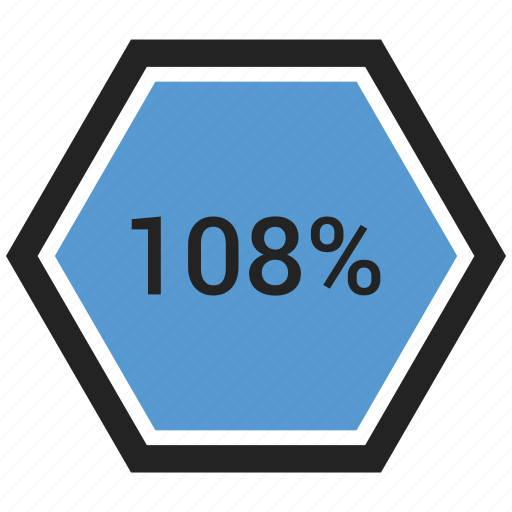 count, graphic, info, number, one hundred eight, percent icon