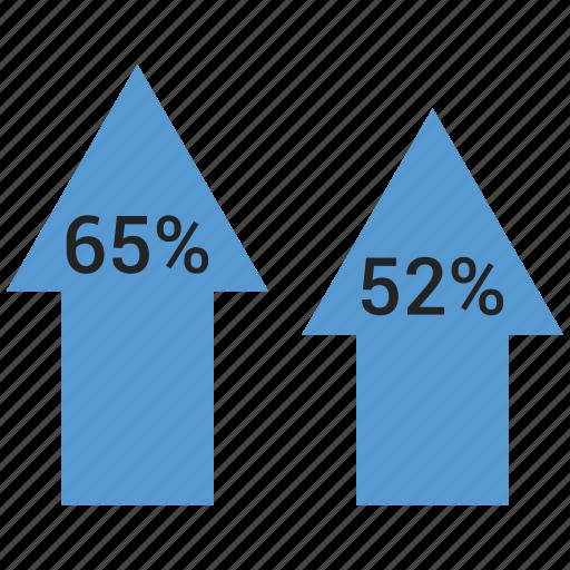 analytics, arrow, chart, growth, increase, up icon