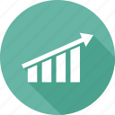 analytics, graph, growth bar, report, statistics icon