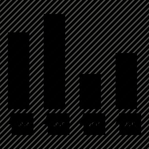 analytics, chart, infographic, rising, statistics icon