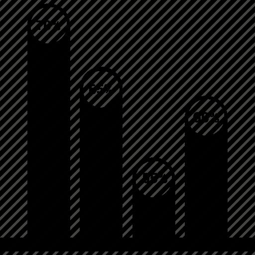 bar, chart, finance, graph, infographic, marketing icon