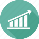 analytics, bar, chart, growth, increase icon