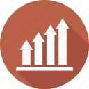 chart, data, growth, presentation icon