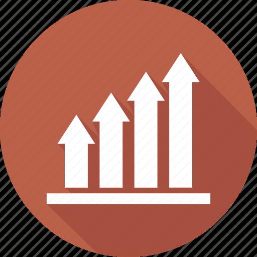 chart, data, growth, presentation icon