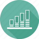 analytics, chart, rising, statistics icon