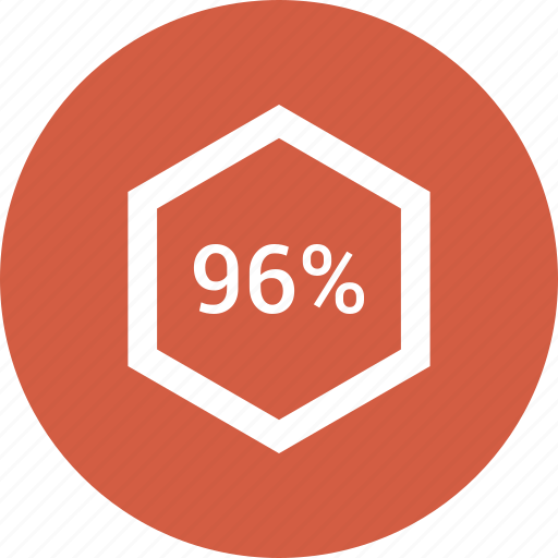 chart, count, ninty, number, percent, six icon