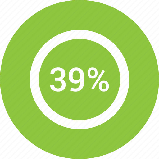 chart, count, number, percent, six, thirty nine icon
