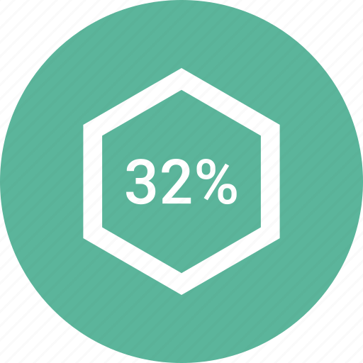 chart, count, number, percent, thirty, two icon