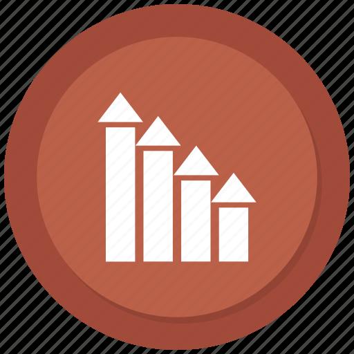 analytics, chart, rising, statistics icon