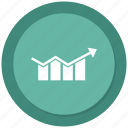 analytics, graph, growth bar, monitoring, stats icon