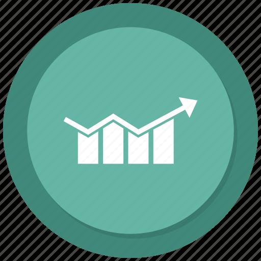 analytics, graph, growth bar, monitoring, stats icon