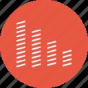 bar chart, chart, data, graph, info, music bar, stats icon