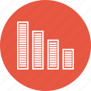bar chart, bar graph, financial chart, statistics icon
