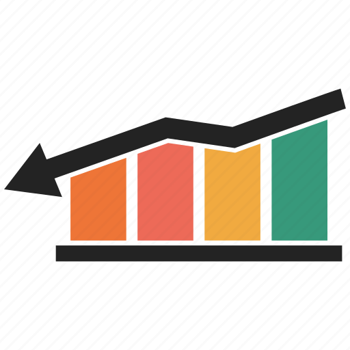 business graph, business growth, down growth, graph, growth chart, growth graph icon