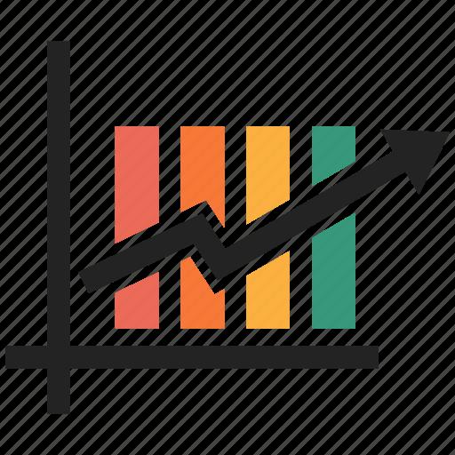 analytics, chart, growth, increase icon