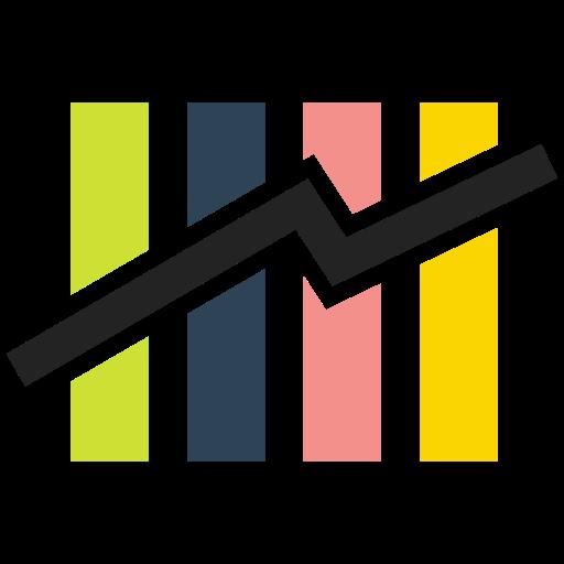 bar chart, chart, graphic chart, rising, rising chart icon