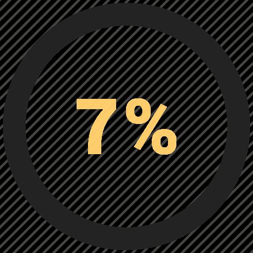 info, information, percent, seven icon