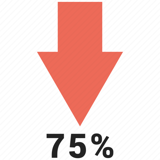 arrows, down, percent, up icon