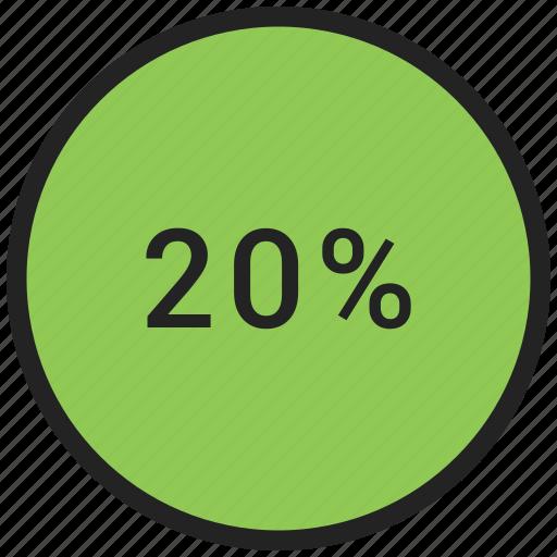 percent, rate, revenue, twenty icon