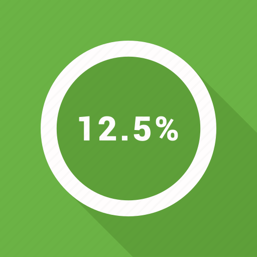 percent, rate, revenue, twelve icon
