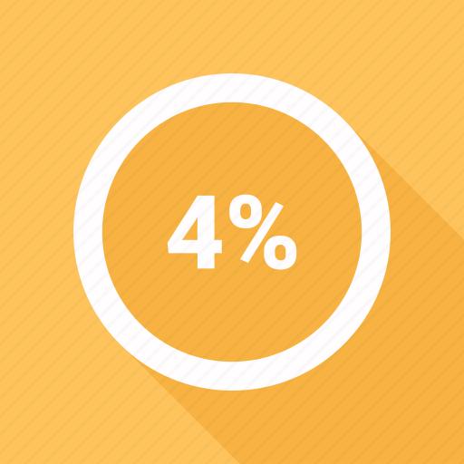 circle, four, percent, percentage, pie chart icon