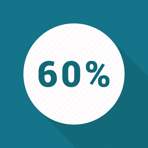percent, percentage, rate, sixty icon