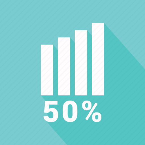 bar, bar chart, business, chart, fifty, graph, infographic element icon