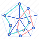 chart, infographic, marked, radar