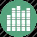 analytics, bar chart, business, chart, finance, sound bar icon