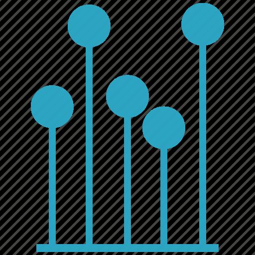 bar, chart, circle, economic, graphic, minimum icon