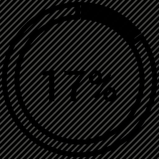 analytics, chart, graph, pie, seventeen icon