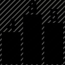 bar, bar chart, business, chart, graph icon