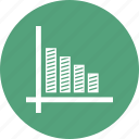 arrow, bar, chart icon