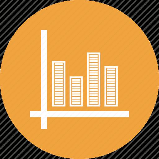 ascending, benefit, graph, report icon