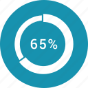 data, graphics, indicator, loading, percent, segme icon