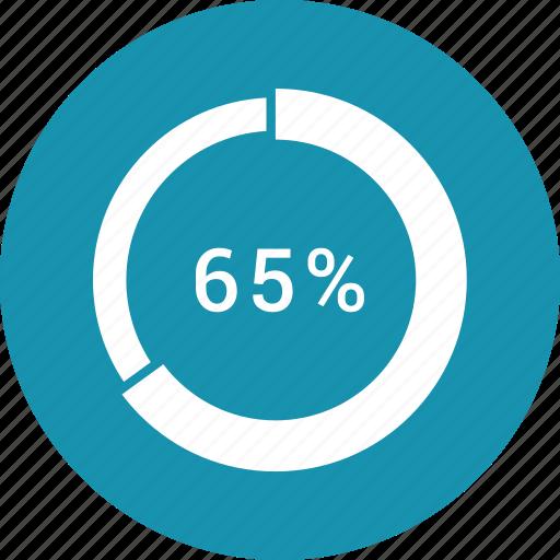 data, graphics, indicator, loading, percent, segme icon