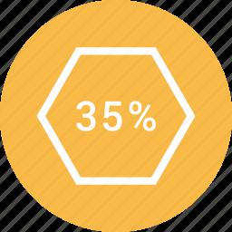 data, five, percent, thirty, web icon