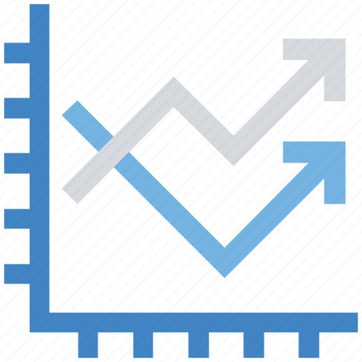 Arrows, effective, graph, reports, sales icon - Download on Iconfinder
