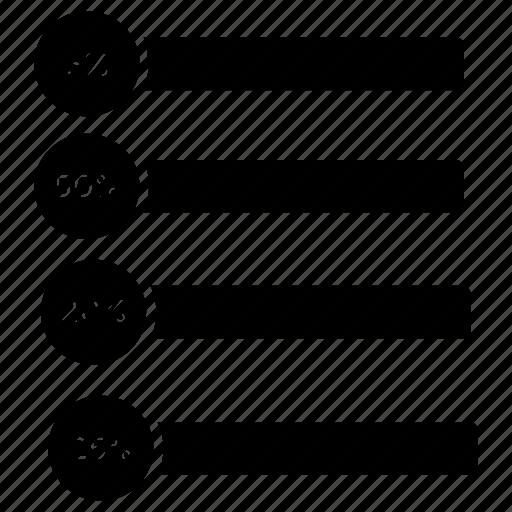 bar chart, gantt chart, progress chart, project management, project schedule icon