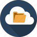 cloud, computer, computing, data, degital, folder, office icon