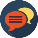 chat, communication, dialog, internet, network, speak, speech icon