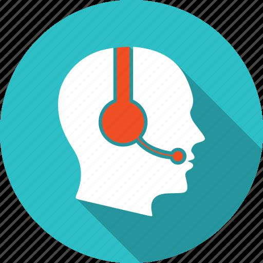 head, headphone, microphone, person, sound, speaker, technology icon