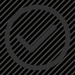 check, correct, right, tick icon
