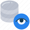 data, information, security, tracking, view icon