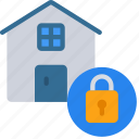 home, information, lock, security icon