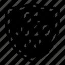 binary, data, protection, shield icon