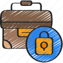 brief, business, case, information, security icon