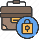 business, brief, security, case, information icon