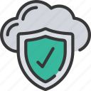 cloud, information, protection, security, shield