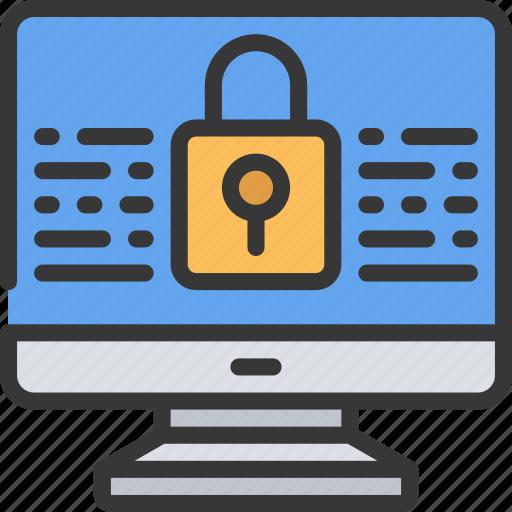 code, computer, encryption, information, lock, security icon